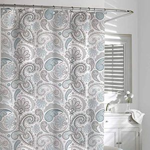 Paisley Shower Curtain, Blue/Grey, 72 by 72-Inch